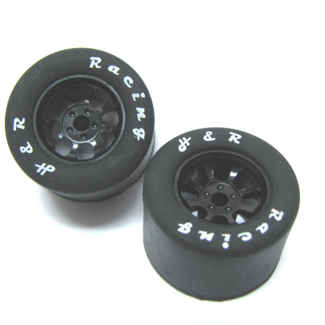 HR1109 Nascar front Black narrow wheel with Rubber tire 2